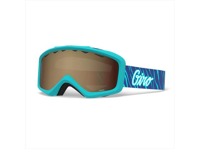 Giro Grade Gafas Niños, glacier stripes/amber rose